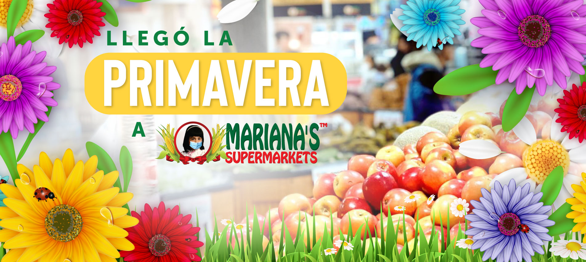 Marianas Markets Web Banner with Flowers